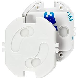 Magic Mama Tapónes de seguridad para enchufes para encajar y pegar - Protección de enchufes para bebés y niños (20 unidades)