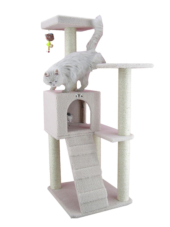 24\ Armarkat Cat Tree, 63 x 58 x 135 cm, Ivory