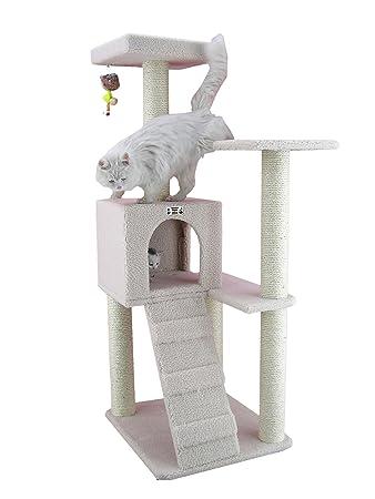 armarkat cat tree 63 x 58 x 135 cm ivory
