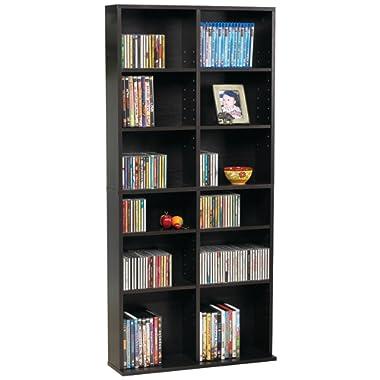 Atlantic 38435719 Oskar Media Cabinet for 464 CD or 228 DVD, Espresso