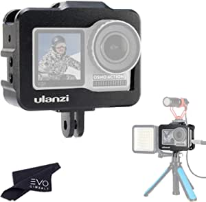 Ulanzi Vlog Cage for DJI Osmo Action Camera - Full Metal Professional Grade Vlogging Case for External Microphones & Video Lights (Vlog Cage)