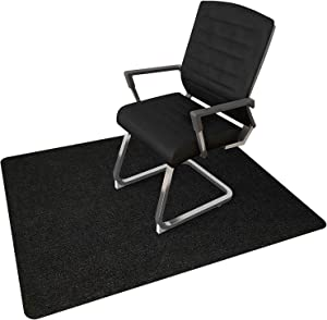 """Office Chair Mat for Hardwood Floor, Chair Mat Hard Floor Protector, 0.16"""" Thick 48""""x36"""" Chair Carpet Multi-Purpose for Desks, Office and Home (Black)"""