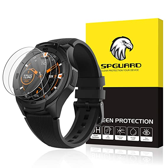 3c4209376 SPGuard Compatible Ticwatch S2 /E2 Screen Protector, [3 Pack] Tempered Glass  2.5