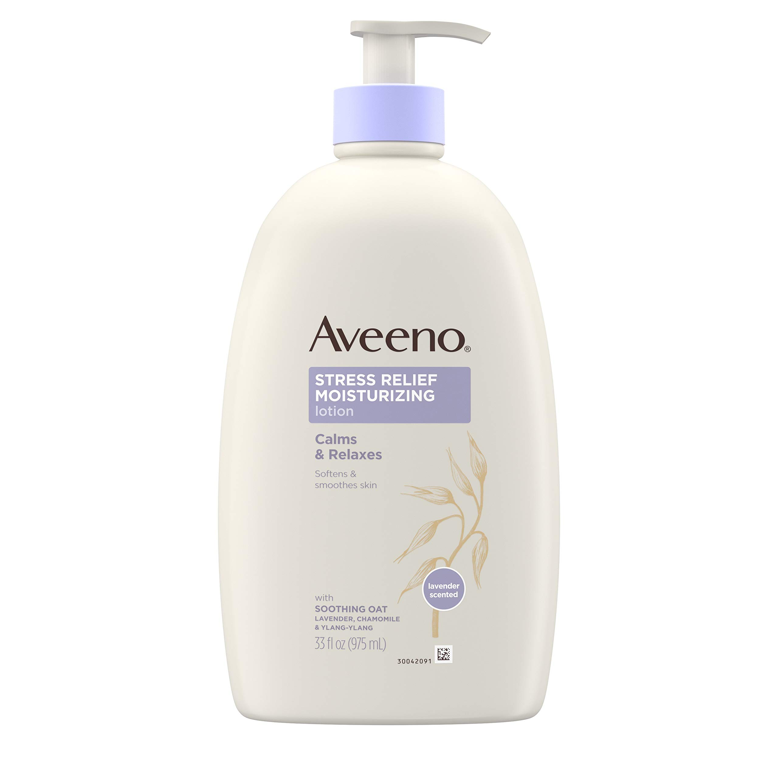 Aveeno Stress Relief Moisturizing Body Lotion with Lavender, Natural Oatmeal and Chamomile & Ylang-Ylang Essential Oils to Calm & Relax, 33 fl. oz by Aveeno