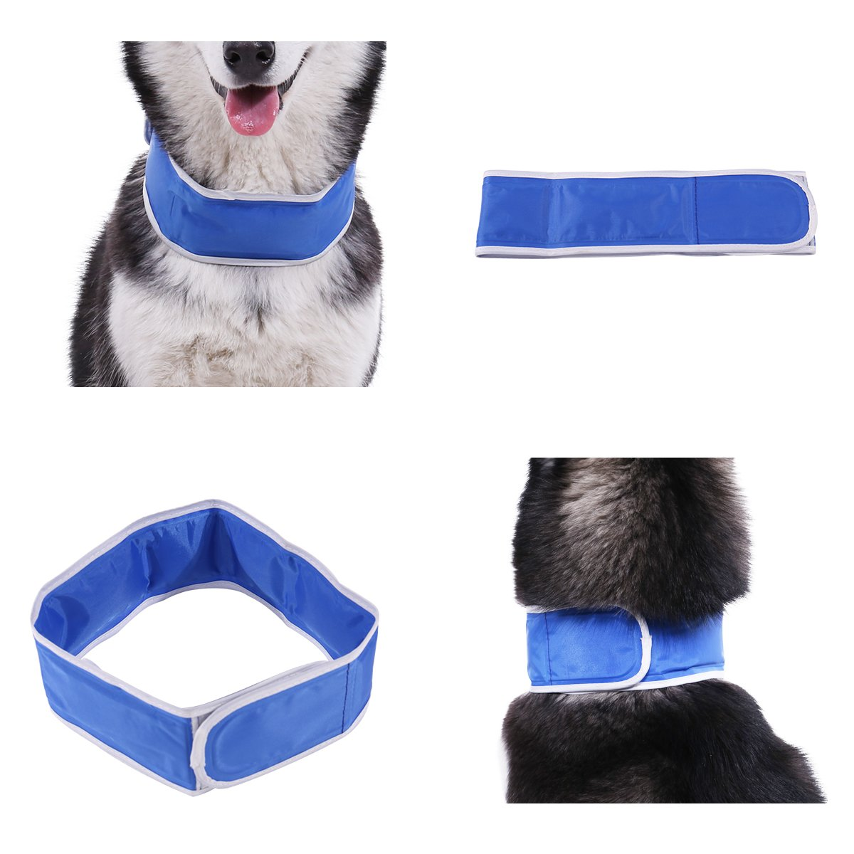 PAWZ Road Pet Cooling Neck Warp Cool Collar Summer Dog Cat Gel Pack Necklace for Dogs by PAWZ Road (Image #3)