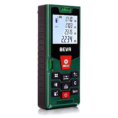 Laser Entfernungsmesser 40M Laser Messgerät Distanzmesser (Messbreich 40m/±2mm) mit LCD Hintergrundbeleuchtung, Staub/Spritzw