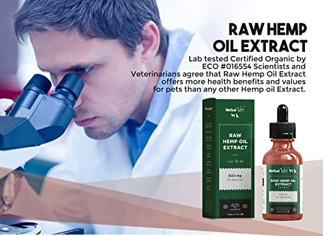 Raw Hemp Oil for Dogs and Cats -Hemp Extract to Reduce Inflammation, Joint  Pain, Improve Skin,Coat, Relieve Stress & Anxiety- All Natural,Health &