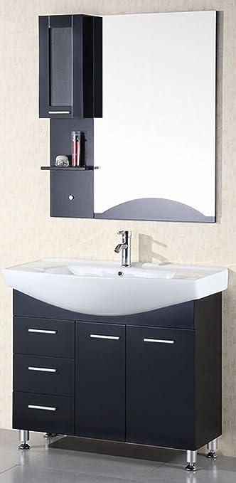 Design Element Sierra Single Drop In Sink Vanity Set 40 Inch