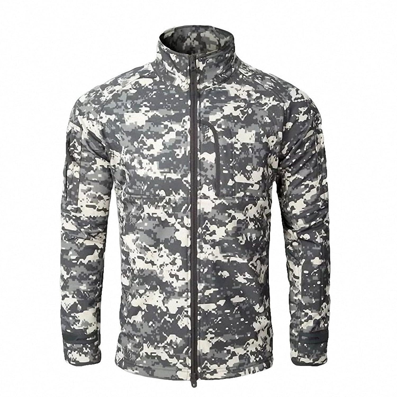 Amazon.com: Men Fashion Military Hunt windcheater Jacket Tactical Sharkskin Softshell Standcollar Fleece coats Army Camouflage Clothing: Clothing