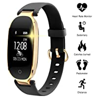 Fitness Tracker for Women Heart Rate Monitors Step Counter Activity Trackers Smart Bracelet Smartwatches IP67 Waterproof Bluetooth Pedometer Wristband with Sleep Monitor for Android & IOS Smartphone, iPhone, Samsung by WOWGO