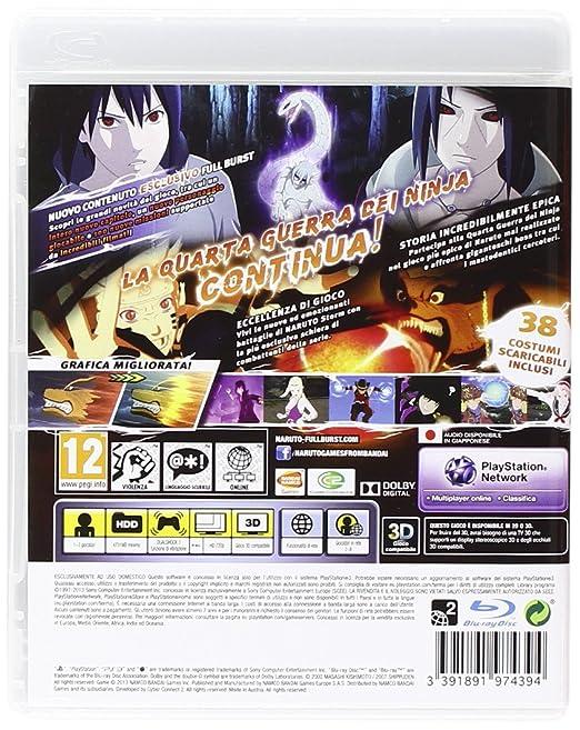 Naruto S. Ult Ninja Storm 3 Full Burst [Importación Italiana ...