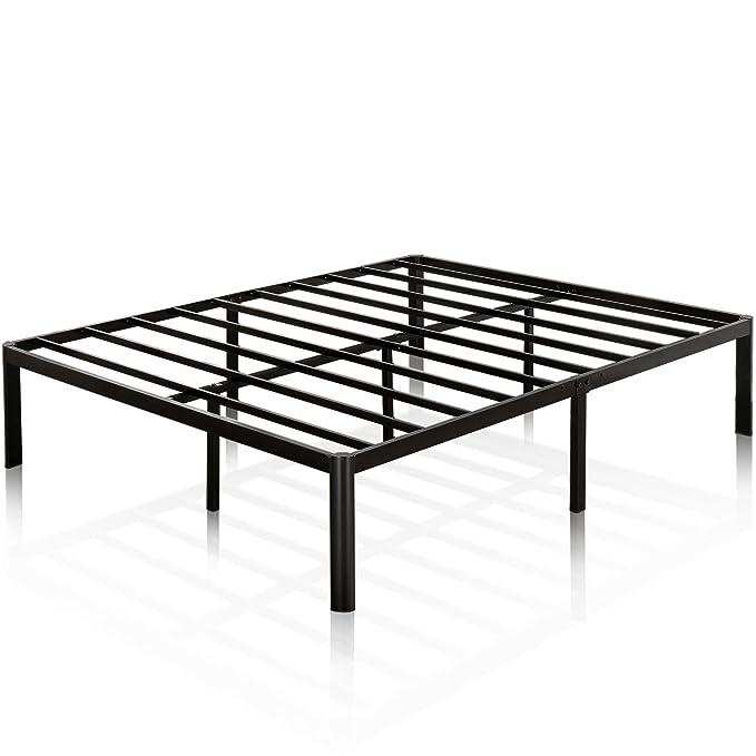 Zinus Van 16 Inch Metal Platform Bed Frame with Steel Slat Support / Mattress Foundation, Queen