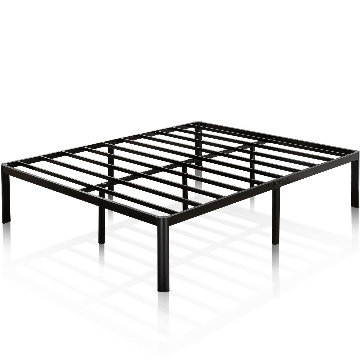 Zinus Van 16 Inch Metal Platform Bed Frame with Steel Slat Support / Mattress Foundation, King by Zinus (Image #1)