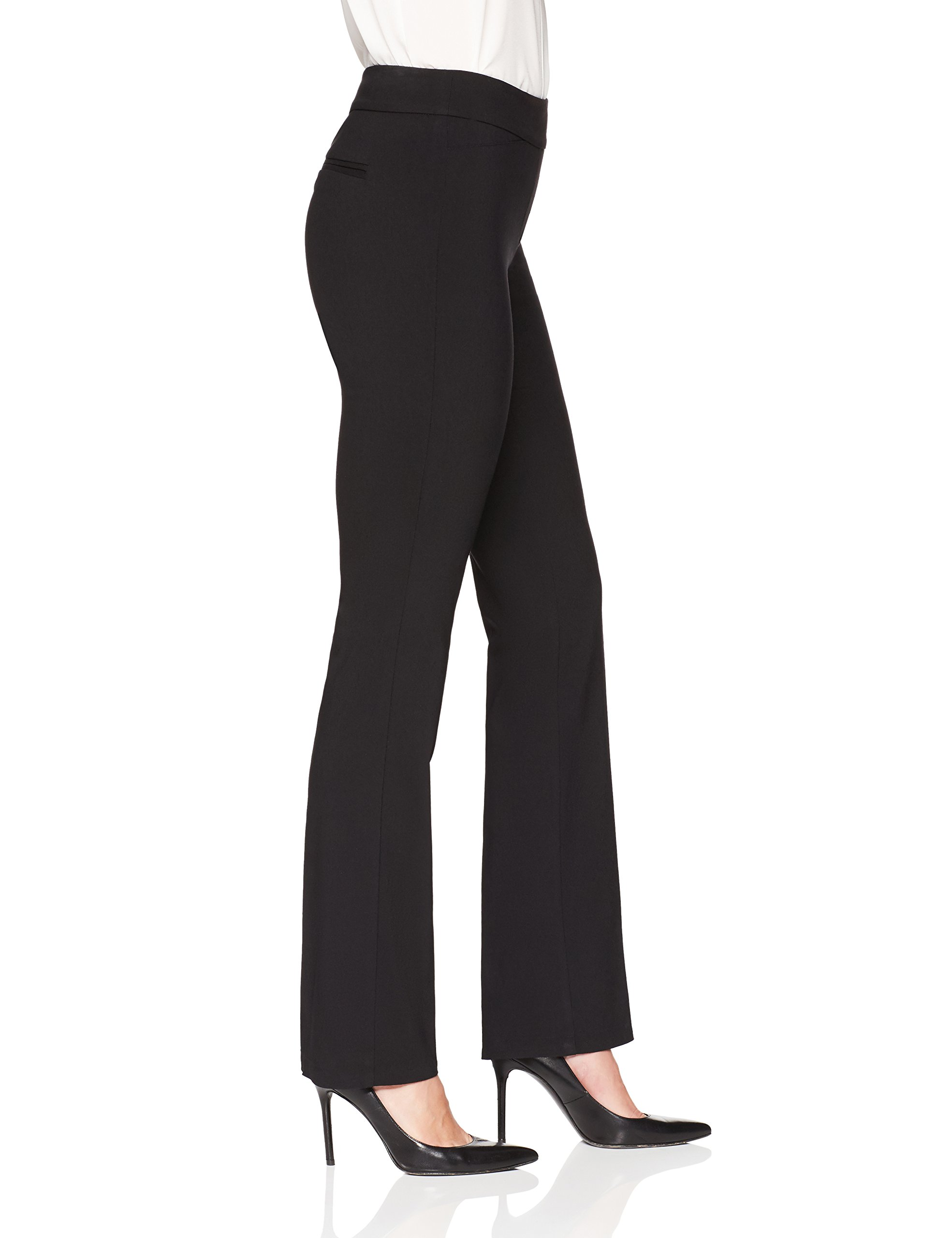 Lark & Ro Women's Barely Bootcut Stretch Pant: Comfort Fit, Black, 16 by Lark & Ro (Image #4)