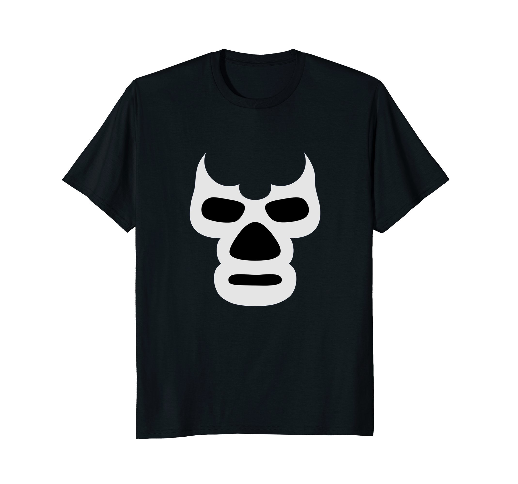 Mens Lucha Libre Face T-Shirt - Mexican Wrestler Hero Style Tee XL Black by Mexican Wrestling Lucha Tees