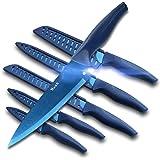 Wanbasion Blue Professional Kitchen Knife Chef Set