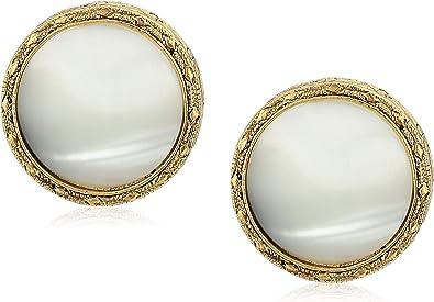 Small Faux Pearl Button Clips