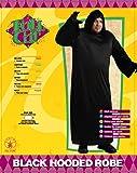 Rubie's Black Hooded Robe, Black, Adult Full Figure Costume