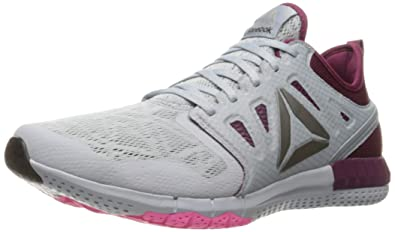 8478bdf597e7f9 Reebok Women s Zprint 3D Walking Shoe Cloud Grey Rebel Berry Poison  Pink Pewter