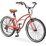 sixthreezero Around The Block Casual Edition Women's 7-Speed Beach Cruiser Bike