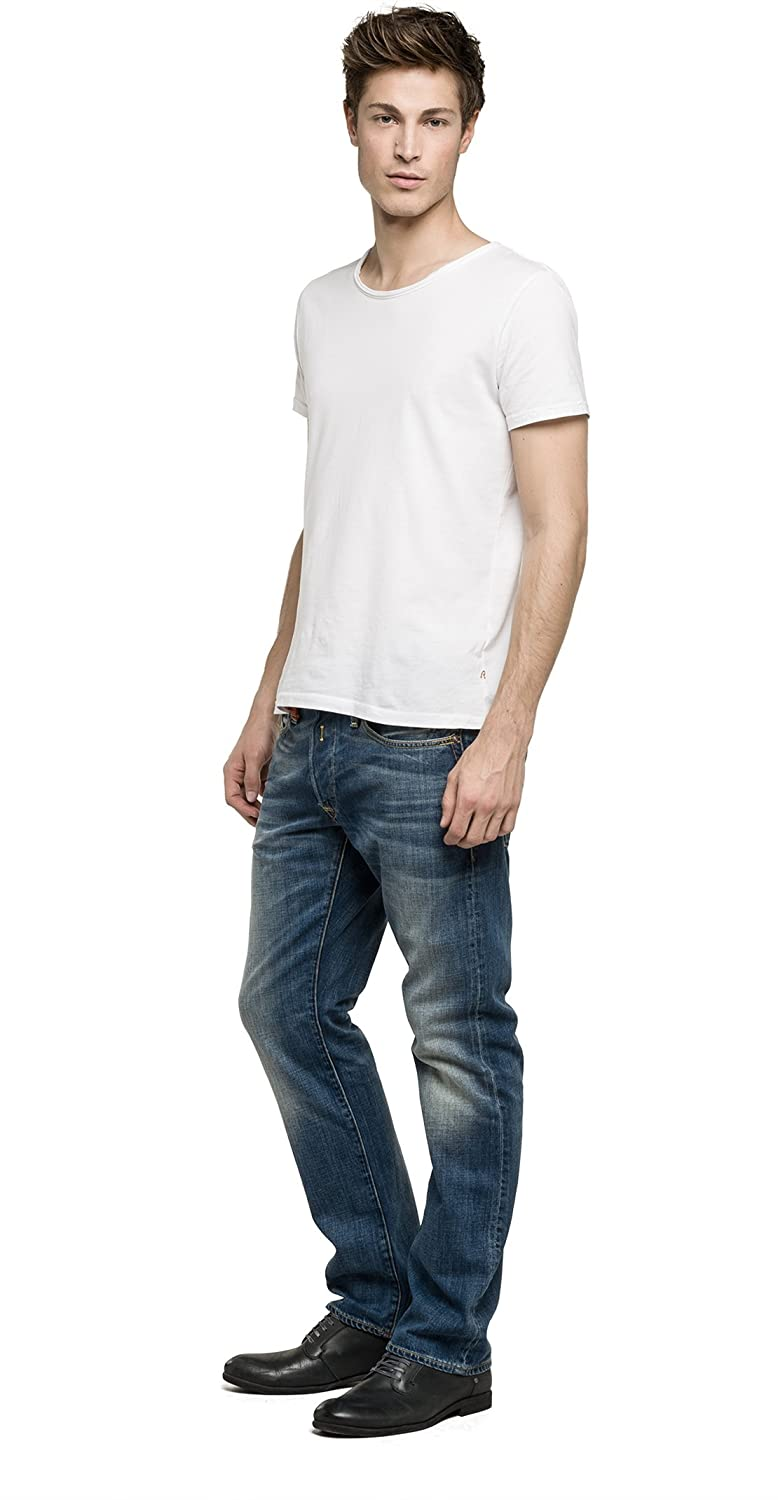 REPLAY da Uomo Regular Slim Leg Jeans Waitom