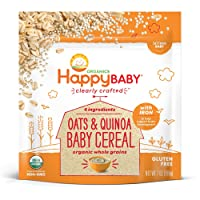 Happy Baby Organic Clearly Crafted Cereal Whole Grains Oats & Quinoa, 7 Ounce Bags...