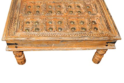 Antique Coffee Table.Amazon Com Mogul Interior Antique Old Door Coffee Table Orange