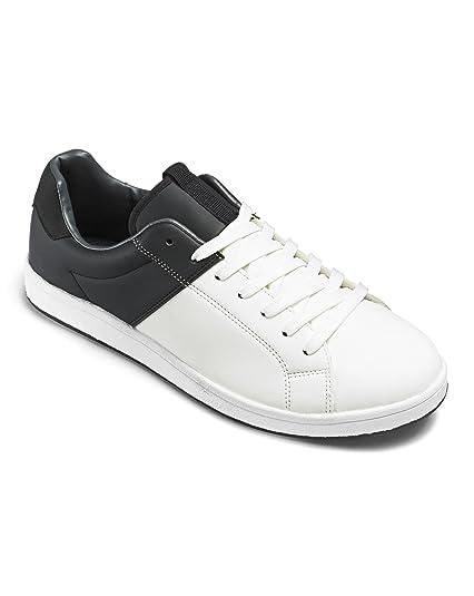 Mens JCM Sports Monochrome Trainers Black/White 7