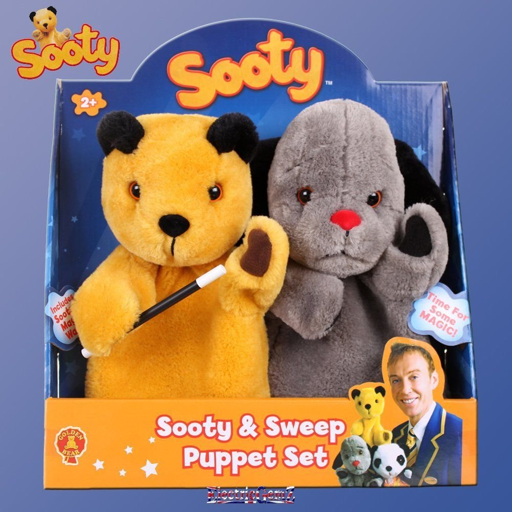 B-CreativeThe Sooty Show Sooty & Sweep Plush Hand Puppet Set with Magic Wand