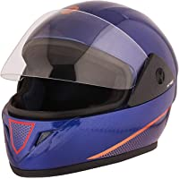 STARVIN RHYNOX FULL FACE HELMET    BLUE COLOR    ISI APPROVED    WITH RED HYDROGRAPHICS MODEL- JETTY