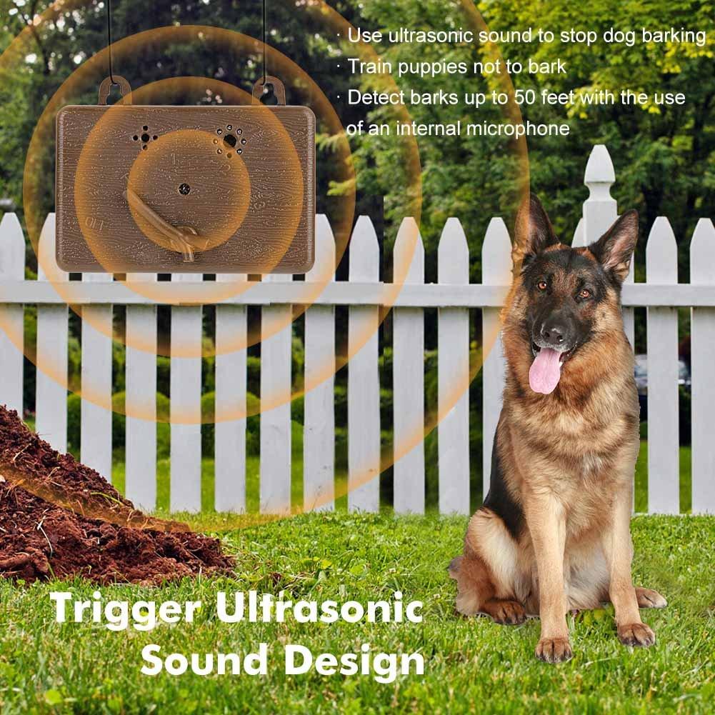 Farrom Mini Outdoor Anti Barking Device Ultrasonic Dog Bark Control Sonic Deterrents Silencer Tools