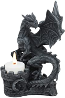 Dragon/'s Head Gothic Dragon Tealight Holder 13x9cm Candle Holder