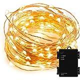 Kohree 100 Micro LEDs String Lights Batteriebetriebene Lichterkette 10M/33ft LED Draht Lichterkette Kupfer mit Timer, Perfekt für Weihnachten, Hochzeit, Party, Garten, Schlafzimmer
