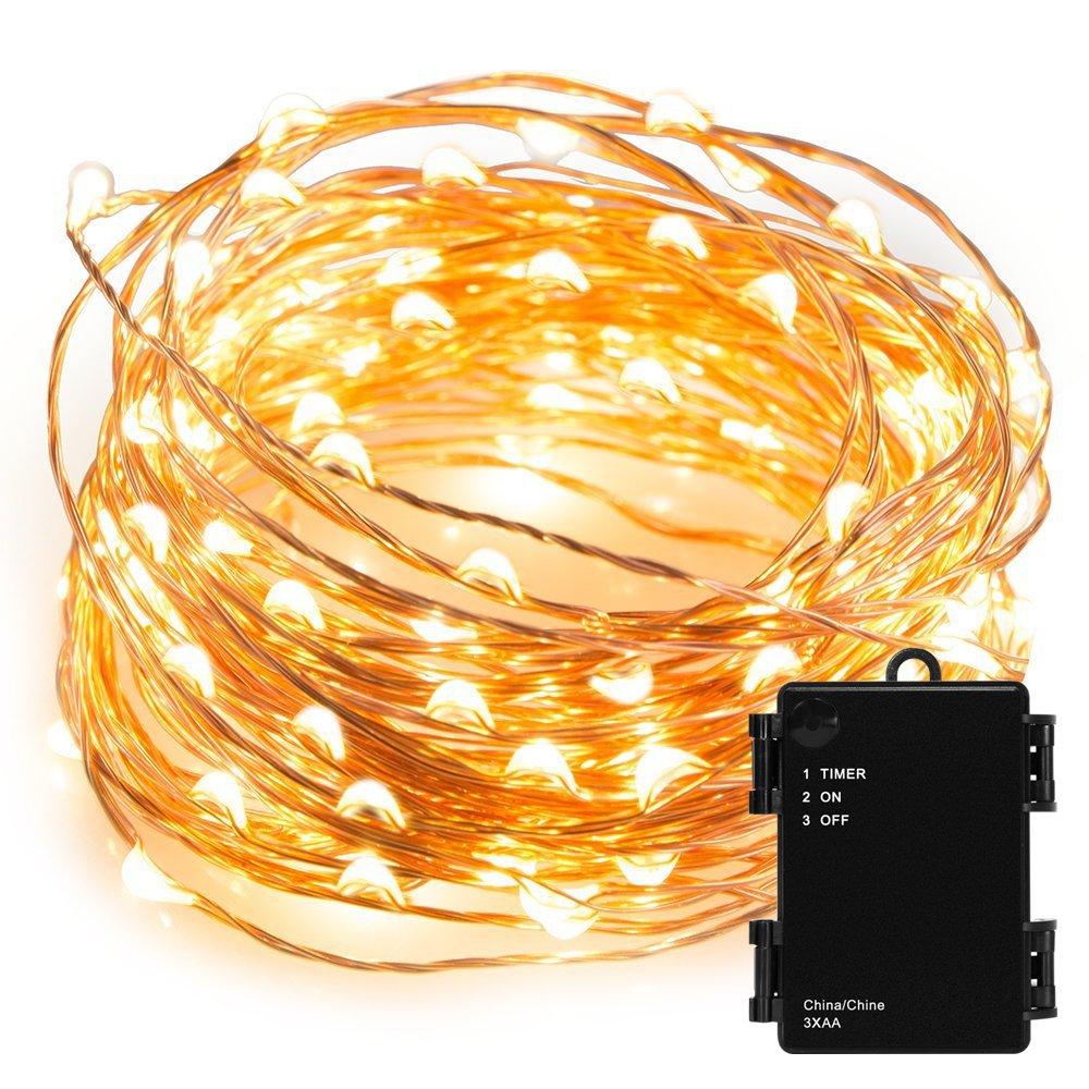 Kohree 100 Micro LEDs String Lights Batteriebetriebene Lichterkette ...