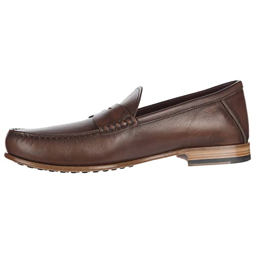 Tods Mens Leather Loafers Moccasins Brown US Size 7.5 XXM11A00010GDQS804