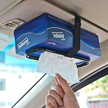 Car Paper Napkin Bracket Tissue Box Holder Clip Accessories Organizer Sun Visor