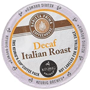 Barista Prima Decaf Italian Roast (2 Boxes of 24 K-Cups)