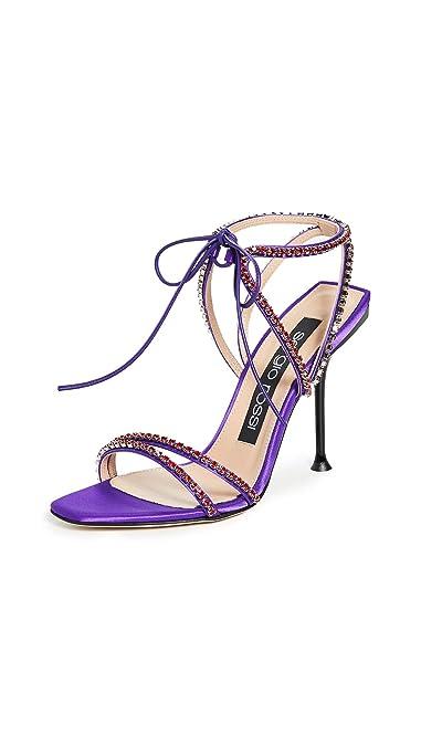 the latest 1e5e1 b3968 Amazon.com | Sergio Rossi Women's Milano Diamonds Sandals ...