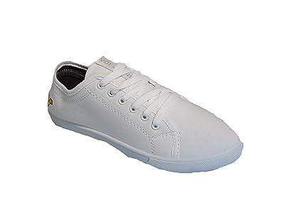 704cb66e23f1 VOI Mens Boys White Jeans Canvas Trainers Lace Up Pumps Plimsolls UK ...