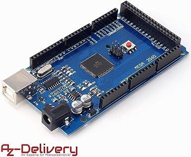 AZDelivery Mega 2560 R3 Placa con ATmega2560, compatible con Arduino Uno con eBook incluido