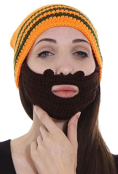 6b7824f9370 Simplicity Men s Women s Beard Hat Beanie Winter Warm Knit Outdoor Cap  Orange