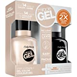 Sally Hansen Miracle Gel Nail Polish, Birthday Suit Duo Pack, 1 Ounce