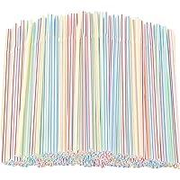 100/500Pcs Plastic Rietjes Flexibele Drinken Rietjes Bend Wegwerp Rietjes Kleurrijk Wegwerpdrinkrietjes…