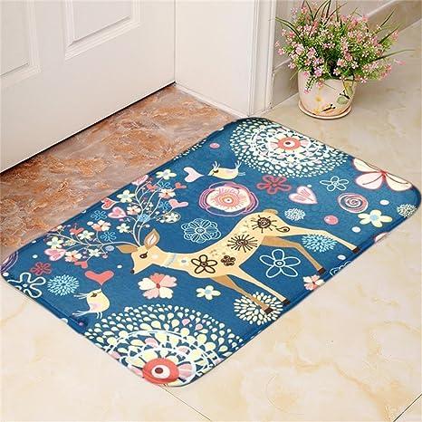 alfombras Antideslizantes Alfombra Alfombra Alfombra de Tierra Pata de Cabra Cocina baño Estera Toallas Felpudo Fawn
