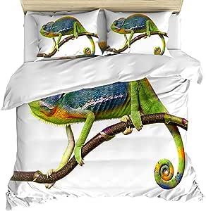 Amazon.com: Edwiinsa Chameleon Lizard 4 Piece Bedding