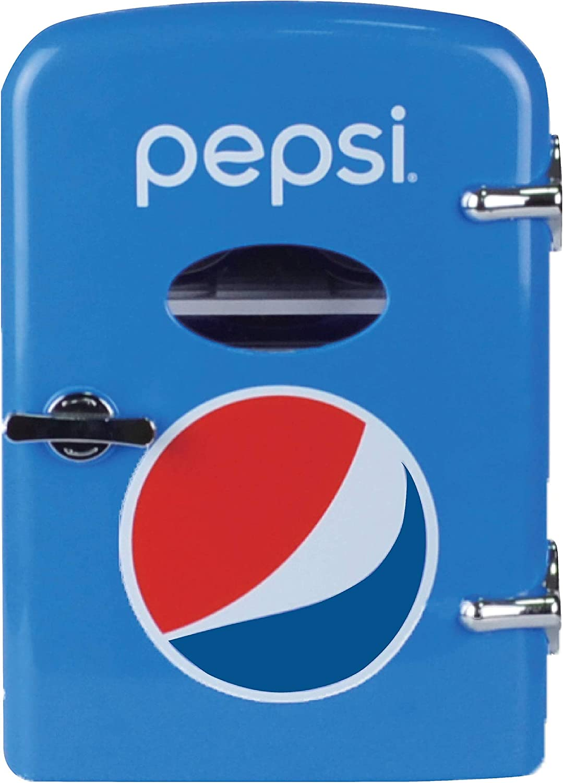 Pepsi 6-can Mini Fridge, MIS133PEP, BLUE