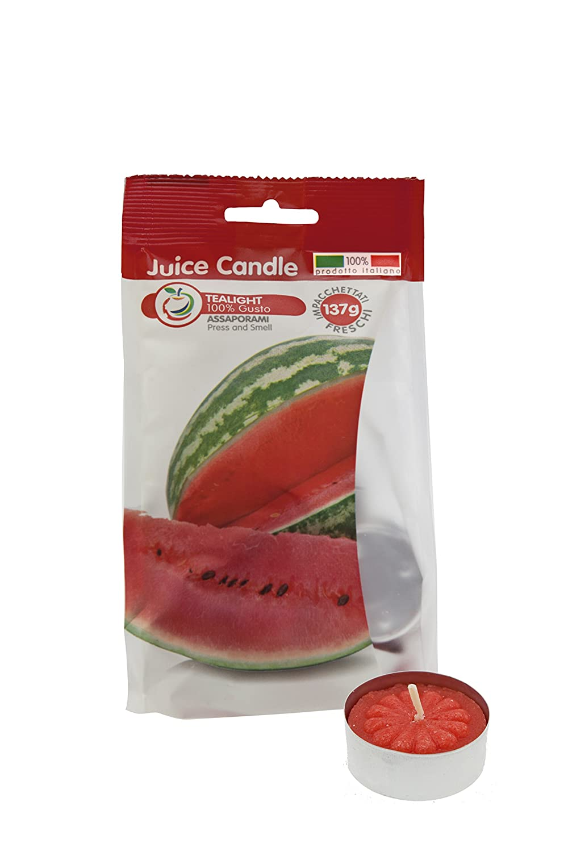 Cereria di Giorgio Succo di Candela Tealight Profumati alla Frutta, Cera, Rosso, 3.8x3.8x1.6 cm, 12 unità CESZW FR00112_ANG