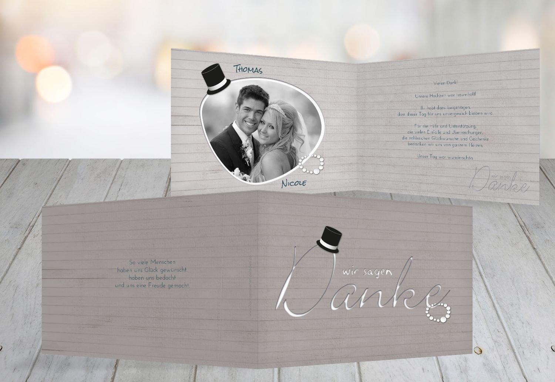 Kartenparadies Danksagung für Hochzeitsgeschenke Hochzeit Dankeskarte Kette Zylinder, hochwertige Danksagungskarte Hochzeitsglückwünsche inklusive Umschläge   10 Karten - (Format  148x105 mm) Farbe  Rosa B01NCXQ9U7 | Mode-Muster  | Dü