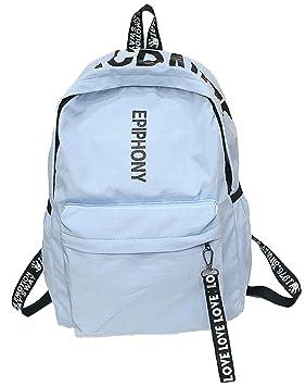 Juchen Simple Backpack Grandes Dama Bolsas-de-Deporte Impermeable Trekking Escolares Mochilas-Tipo-Casual Juveniles Colegio Mochilas-estanca Patchwork: ...