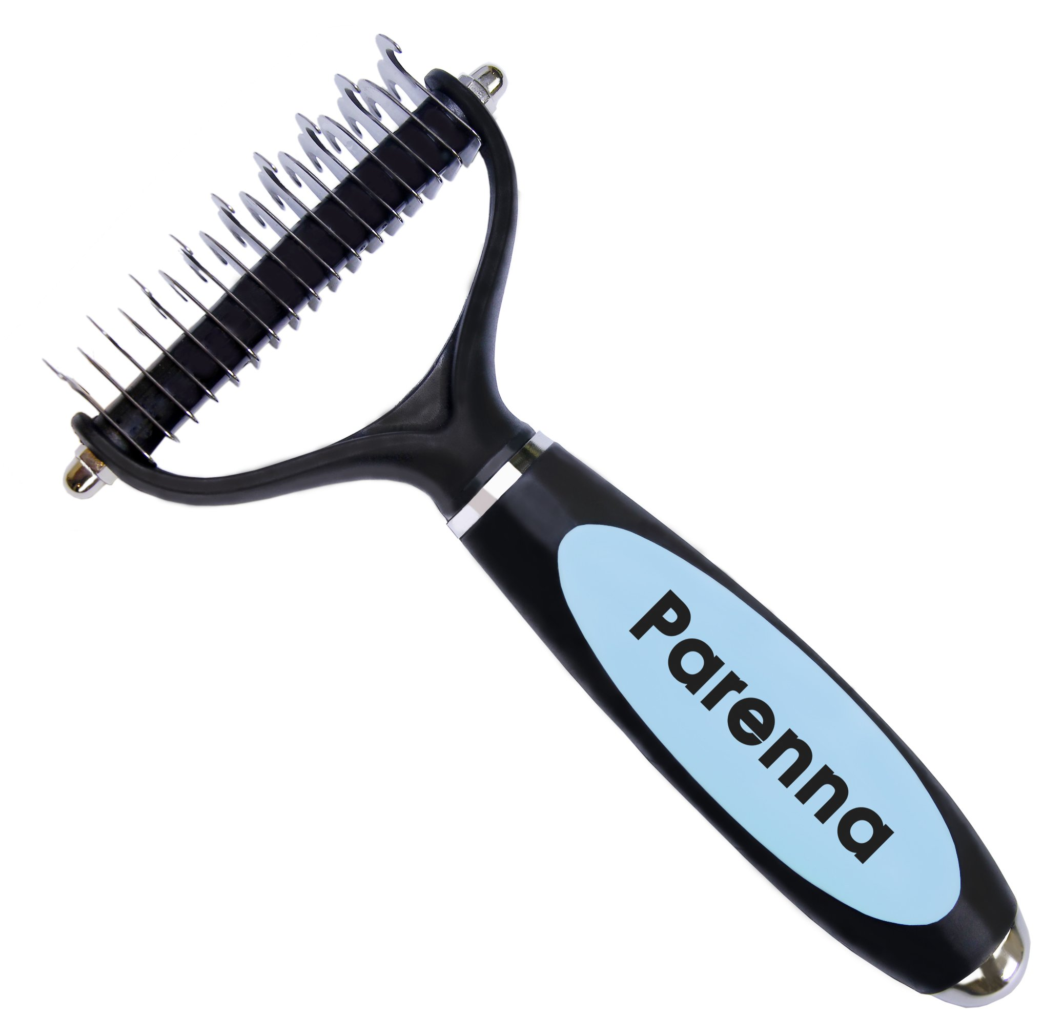 Dematting Tool for Dogs, Professional Dog Grooming Tool for Undercoat Removal and Shedding Reducing, Perfect for Medium and Long Hair Coat Dogs. B-yond Pro Dog Grooming Tool by Parenna